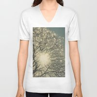 sparkle V-neck T-shirts featuring Winter Sparkle by Pure Nature Photos