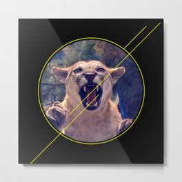 When a Cougar Attacks Pt. II Metal Print