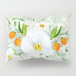 White Orchid Series: Orchid and Kumkwat Palms Pillow Sham