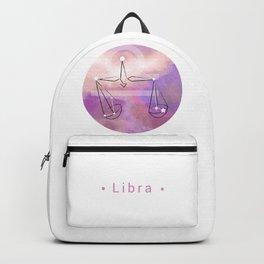 Libra horoscope symbol astrology Backpack