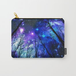 black trees purple blue space Carry-All Pouch
