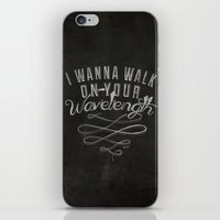 lyrics iPhone & iPod Skins featuring LYRICS - Wavelength by Molly Freze