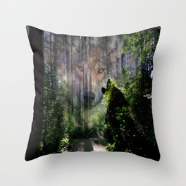 The Wild in Us Throw Pillow