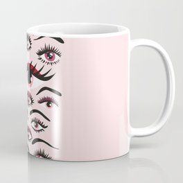 crazy lashes shiny eyes Coffee Mug