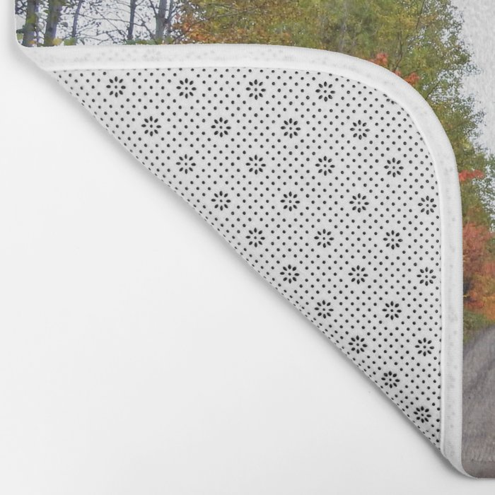 Forest Road in the Fall Bath Mat