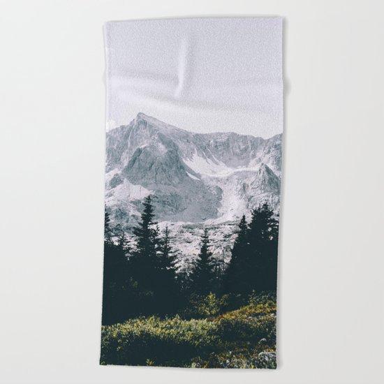 Mountains #faded Beach Towel