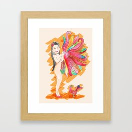 Feather Fan Framed Art Print