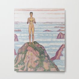 View Into Infinity by Ferdinand Hodler Metal Print
