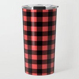 Plaid (Black & Red Pattern) Travel Mug
