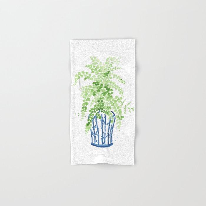 Ginger Jar + Maidenhair Fern Hand & Bath Towel