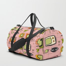 Retro Tv Pink #midcentury Duffle Bag