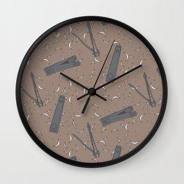 Nail Clippers Wall Clock