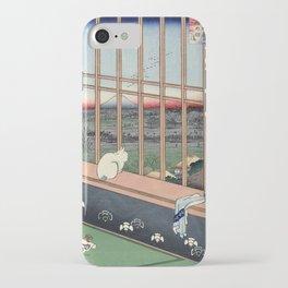 Utagawa Hiroshige Japanese Woodblock Cat Print iPhone Case