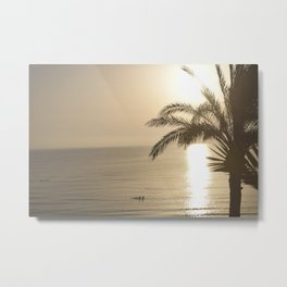 Tunisian African Beach Sunrise Metal Print