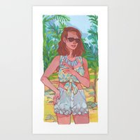 Tropical Vacation Art Print