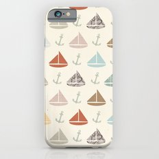 boats and anchors pattern iPhone 6 Slim Case