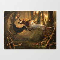 unicorns Canvas Prints featuring Unicorns by ErikaStudio