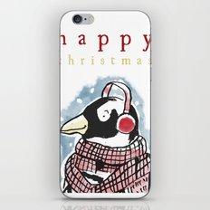 Penguin Christmas Card iPhone & iPod Skin