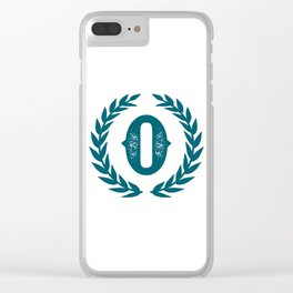 Dark Teal Monogram: Letter O Clear iPhone Case
