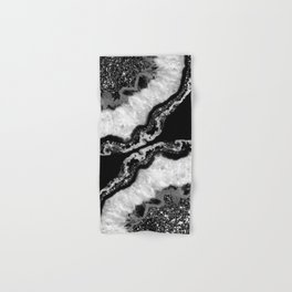 Yin Yang Agate Glitter Glam #4 #gem #decor #art #society6 Hand & Bath Towel