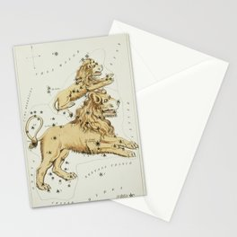 (1831) astronomical chart  of the Leo Major and the Leo Minor Stationery Cards