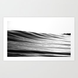 black & white ondulation Art Print