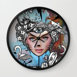 Alice in Modernland Wall Clock