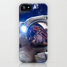 Astronaut in orbit #4 iPhone Case
