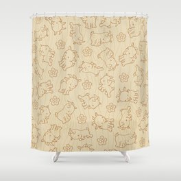 Ditsy Goat Shower Curtain