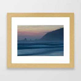 Cannon Beach at Dusk Framed Art Print