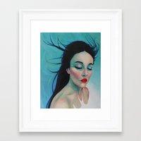 swallow Framed Art Prints featuring Swallow by Bridget Baldwin