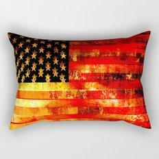 God Blesses the American Flag Rectangular Pillow