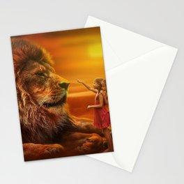 Lion twins | Lion et jumelles Stationery Cards