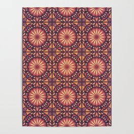 Abstract geometric retro seamless pattern Poster