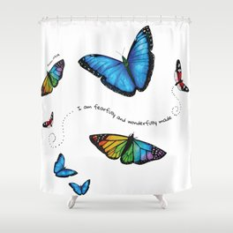 I am fearfully and wonderfully made Shower Curtain