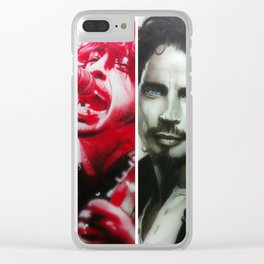 'Rock Montage I' Clear iPhone Case