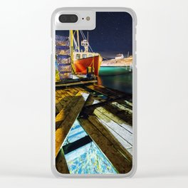 Beneath The Wharf Clear iPhone Case