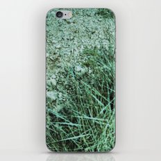 GREEN PICTURE OF A ROCK iPhone Skin