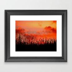 Rainbow Sundown Framed Art Print