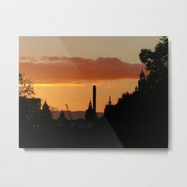 Glasgow Skyline Metal Print