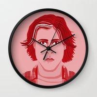 breakfast club Wall Clocks featuring The Breakfast Club - Bender by Priscila Floriano