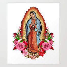 Our Lady of Guadalupe with roses Art Print