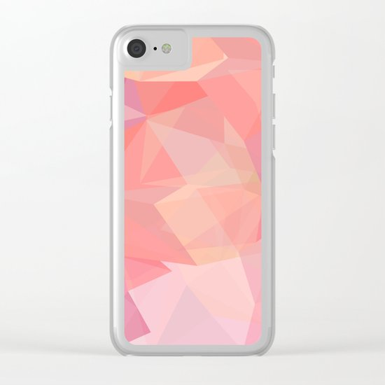 autumn color polygon background Clear iPhone Case