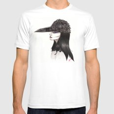 The Masquerade:  The Crow Mens Fitted Tee White MEDIUM