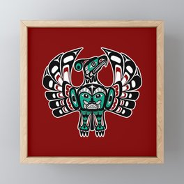Northwest Pacific coast Haida art Thunderbird Framed Mini Art Print