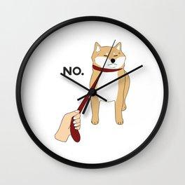 Shiba Inu No Wall Clock