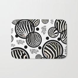 Zebra Circles Bath Mat
