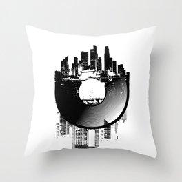 Urban Vinyl of Underground Music Throw Pillow