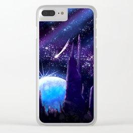 Alien world Clear iPhone Case