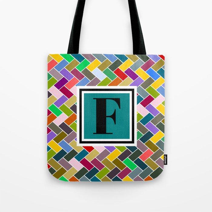 F Monogram Tote Bag